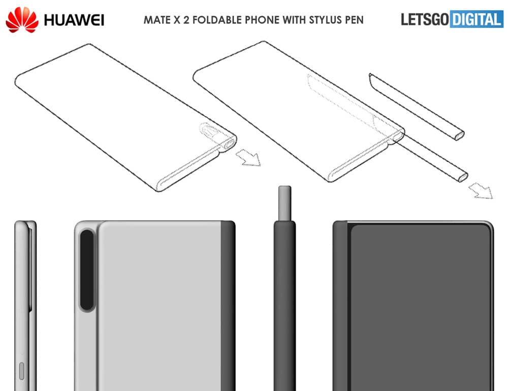 A patent for the Mate X 2 was filed by Huawei with the USPTO