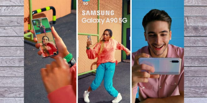 Promo artwork for the Galaxy A90 5G