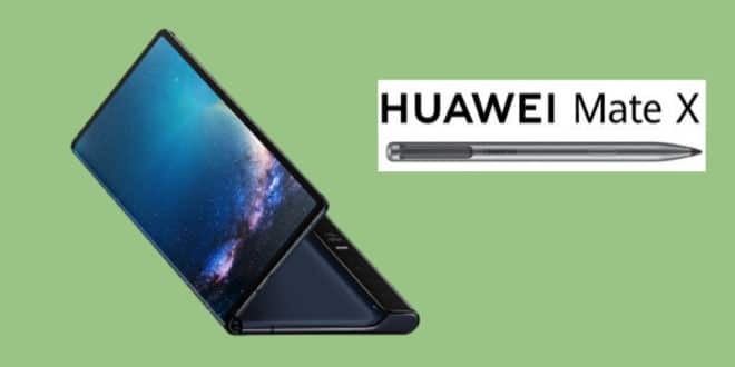 Huawei Mate X 2 with a stylus