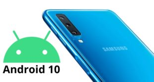 Samsung Galaxy A7 2018 with Android 10