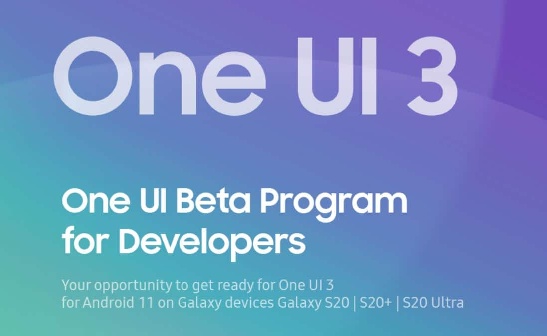 one ui 3 beta for s20