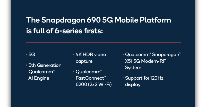 Snapdragon 690 SoC Main Features