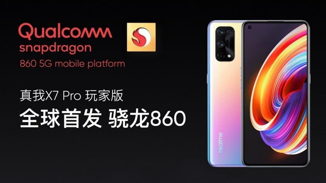 Realme X7 Pro Player 865 phone