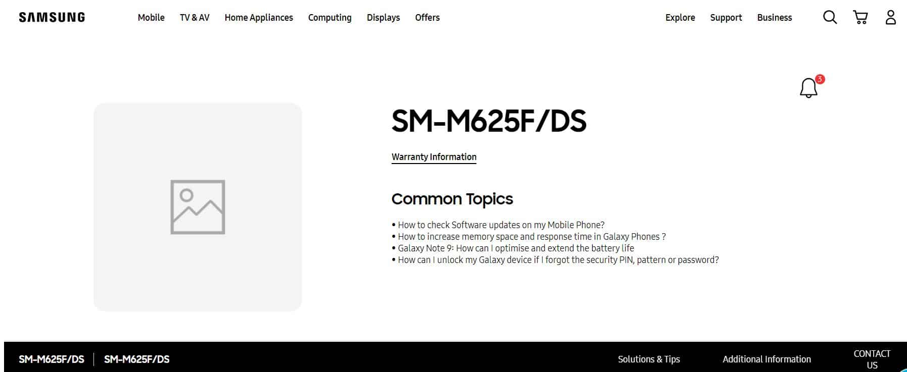 SM-M625F/DS support page