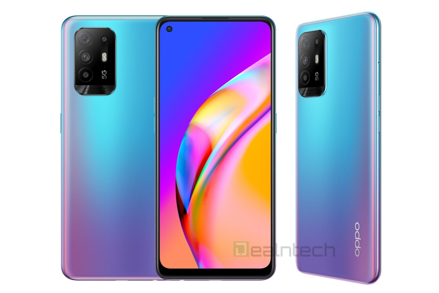Oppo A94 5G render in Cosmo Blue