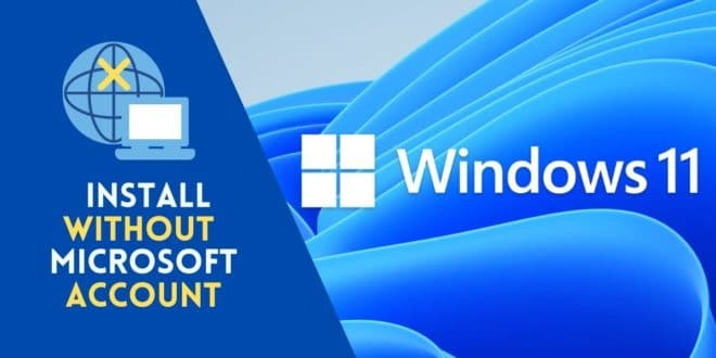Install Windows 11 Home without a Microsoft account